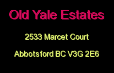 Old Yale Estates 2533 MARCET V3G 2E6