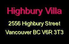 Highbury Villa 2556 HIGHBURY V6R 3T3