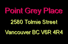Point Grey Place 2580 TOLMIE V6R 4R4
