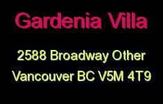 Gardenia Villa 2588 BROADWAY V5M 4T9