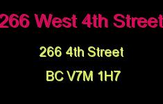 266 West 4th Street 266 4TH V7M 1H7