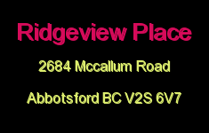 Ridgeview Place 2684 MCCALLUM V2S 6V7
