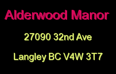 Alderwood Manor 27090 32ND V4W 3T7