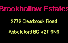 Brookhollow Estates 2772 CLEARBROOK V2T 6N6