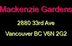 Mackenzie Gardens 2880 33RD V6N 2G2