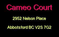Cameo Court 2952 NELSON V2S 7G2