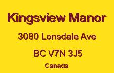 Kingsview Manor 3080 LONSDALE V7N 3J5