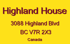 Highland House 3088 HIGHLAND V7R 2X3