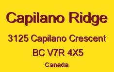 Capilano Ridge 3125 CAPILANO V7R 4X5