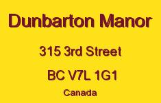 Dunbarton Manor 315 3RD V7L 1G1