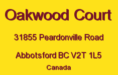 Oakwood Court 31855 PEARDONVILLE V2T 1L5
