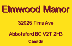 Elmwood Manor 32025 TIMS V2T 2H3