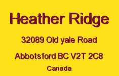 Heather Ridge 32089 OLD YALE V2T 2C8