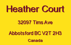 Heather Court 32097 TIMS V2T 2H3