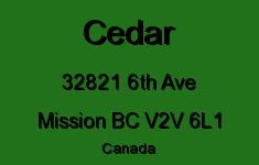 Cedar 32821 6TH V2V 6L1
