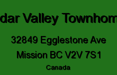 Cedar Valley Townhomes 32849 EGGLESTONE V2V 7S1
