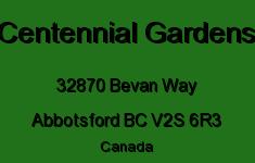 Centennial Gardens 32870 BEVAN V2S 6R3