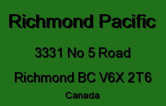 Richmond Pacific 3331 NO 5 V6X 2T6