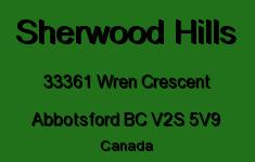 Sherwood Hills 33361 WREN V2S 5V9
