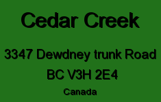Cedar Creek 3347 DEWDNEY TRUNK V3H 2E4