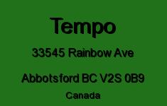 Tempo 33545 RAINBOW V2S 0B9
