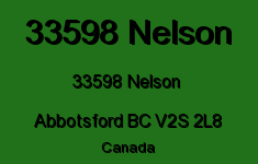 33598 Nelson 33598 NELSON V2S 2L8