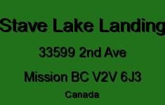 Stave Lake Landing 33599 2ND V2V 6J3