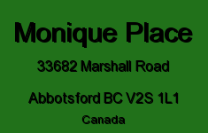Monique Place 33682 MARSHALL V2S 1L1