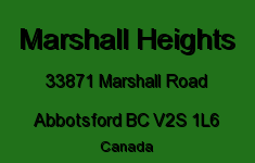 Marshall Heights 33871 MARSHALL V2S 1L6