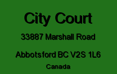 City Court 33887 MARSHALL V2S 1L6