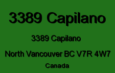 3389 Capilano 3389 CAPILANO V7R 4W7