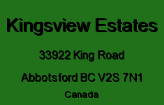 Kingsview Estates 33922 KING V2S 7N1