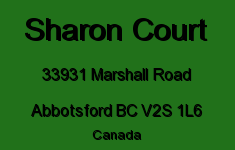 Sharon Court 33931 MARSHALL V2S 1L6