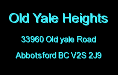 Old Yale Heights 33960 OLD YALE V2S 2J9