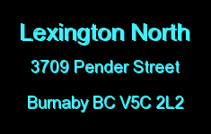 Lexington North 3709 PENDER V5C 2L2