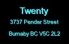 Twenty 3737 PENDER V5C 2L2