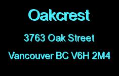 Oakcrest 3763 OAK V6H 2M4