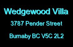 Wedgewood Villa 3787 PENDER V5C 2L2