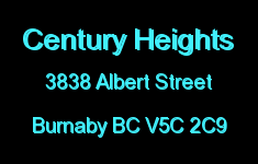 Century Heights 3838 ALBERT V5C 2C9