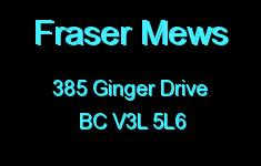 Fraser Mews 385 GINGER V3L 5L6