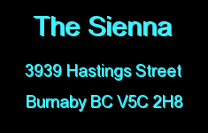 The Sienna 3939 HASTINGS V5C 2H8