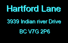 Hartford Lane 3939 INDIAN RIVER V7G 2P6