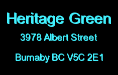 Heritage Green 3978 ALBERT V5C 2E1