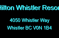 Hilton Whistler Resort 4050 WHISTLER V0N 1B4