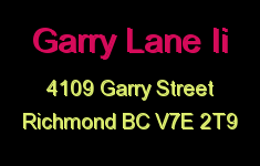 Garry Lane Ii 4109 GARRY V7E 2T9