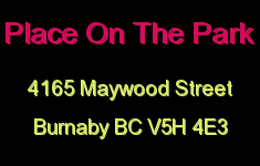 Place On The Park 4165 MAYWOOD V5H 4E3