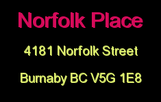 Norfolk Place 4181 NORFOLK V5G 1E8