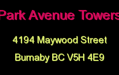 Park Avenue Towers 4194 MAYWOOD V5H 4E9