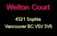 Welton Court 4321 SOPHIA V5V 3V6