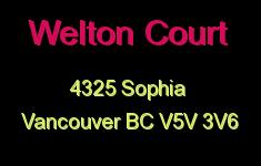 Welton Court 4325 SOPHIA V5V 3V6